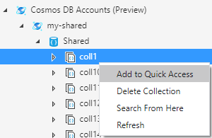 Add resource to quick access.