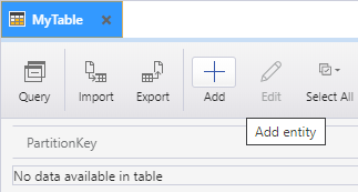 Add new entity to a storage table.