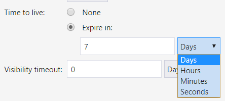 Setting expiration for a message.